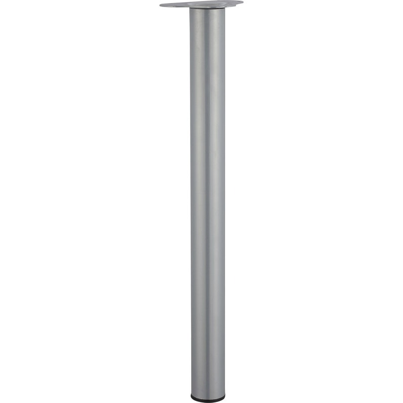 Pied De Table Cylindrique Réglable Acier Mat Gris De 70 à 73 Cm
