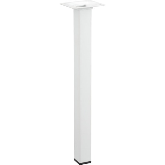 pied de table basse carr fixe acier poxy blanc 30 cm leroy merlin. Black Bedroom Furniture Sets. Home Design Ideas