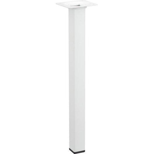 Pied de table basse carr fixe acier poxy blanc 30 cm - Pied de table basse leroy merlin ...