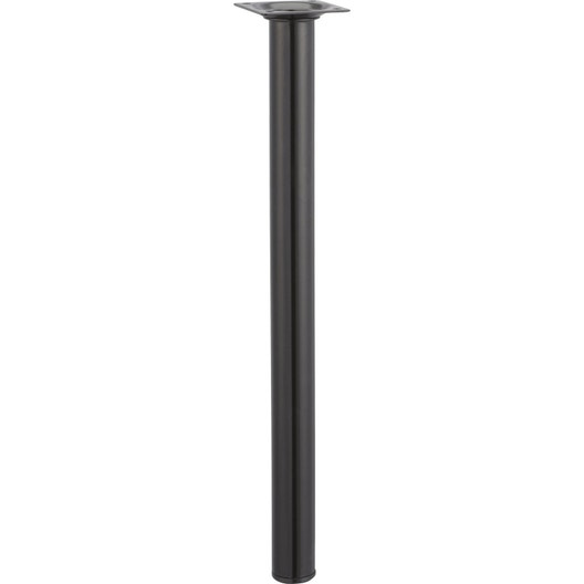 pied de table basse cylindrique fixe acier poxy noir 40 cm leroy merlin. Black Bedroom Furniture Sets. Home Design Ideas