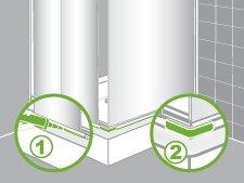comment installer une paroi de douche d 39 angle ou de face. Black Bedroom Furniture Sets. Home Design Ideas
