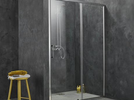 comment installer une paroi de douche d 39 angle ou de face leroy merlin. Black Bedroom Furniture Sets. Home Design Ideas