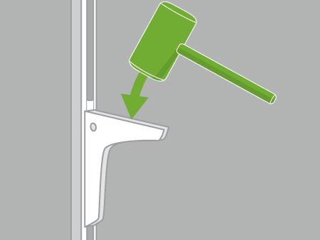 Comment monter une tag re sur cr maill re leroy merlin - Poser une etagere murale sans percer ...