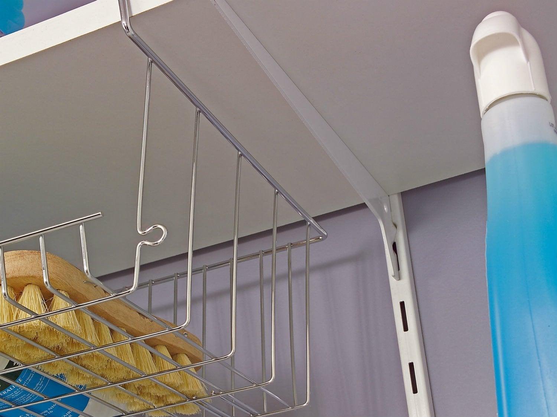Lot de 4 cr maill res simples acier cm entraxe 50 mm leroy merlin - Comment fixer une etagere ...
