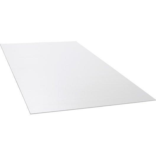 Plaque pvc expans extrablanc opaque x cm x ep for Plancher pvc exterieur