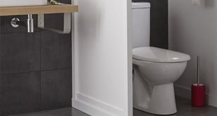 les wc dans la salle de bains leroy merlin. Black Bedroom Furniture Sets. Home Design Ideas