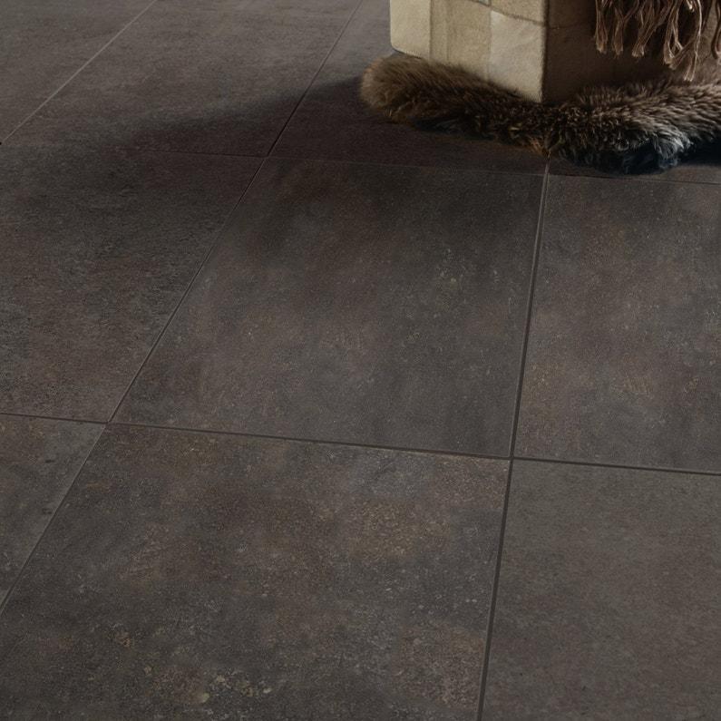Carrelage Sol Et Mur Noir Oxyde Effet Pierre Pietra L 30 X L 60 Cm