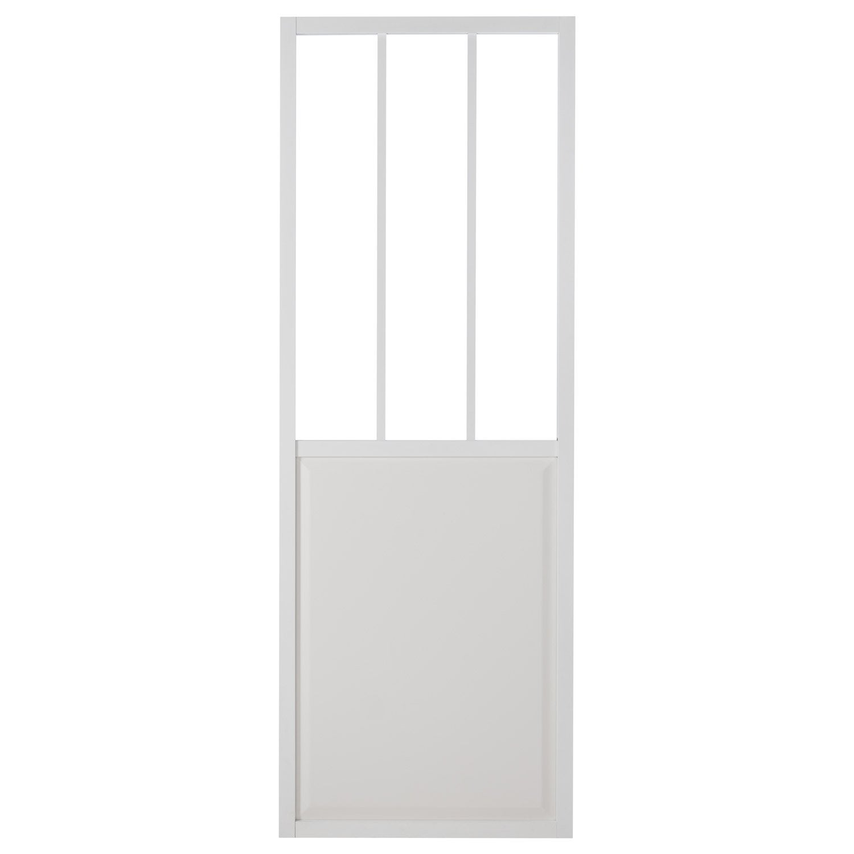 porte coulissante aluminium blanc atelier verre clair. Black Bedroom Furniture Sets. Home Design Ideas