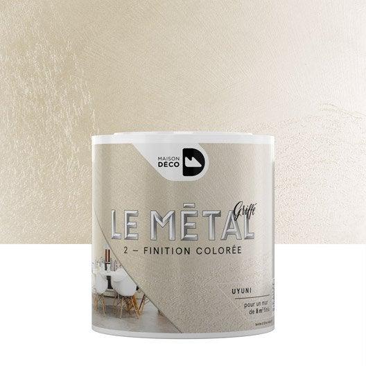 Enduit d coratif le m tal griff maison deco uyuni 0 5 for Miroir uyuni leroy merlin