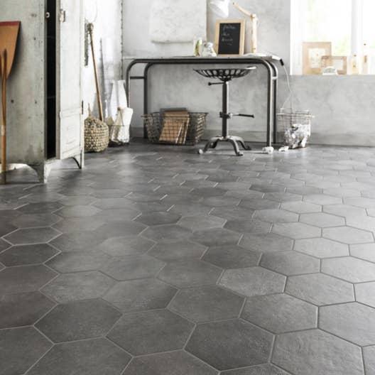 carrelage sol et mur anthracite effet b ton time x cm leroy merlin. Black Bedroom Furniture Sets. Home Design Ideas