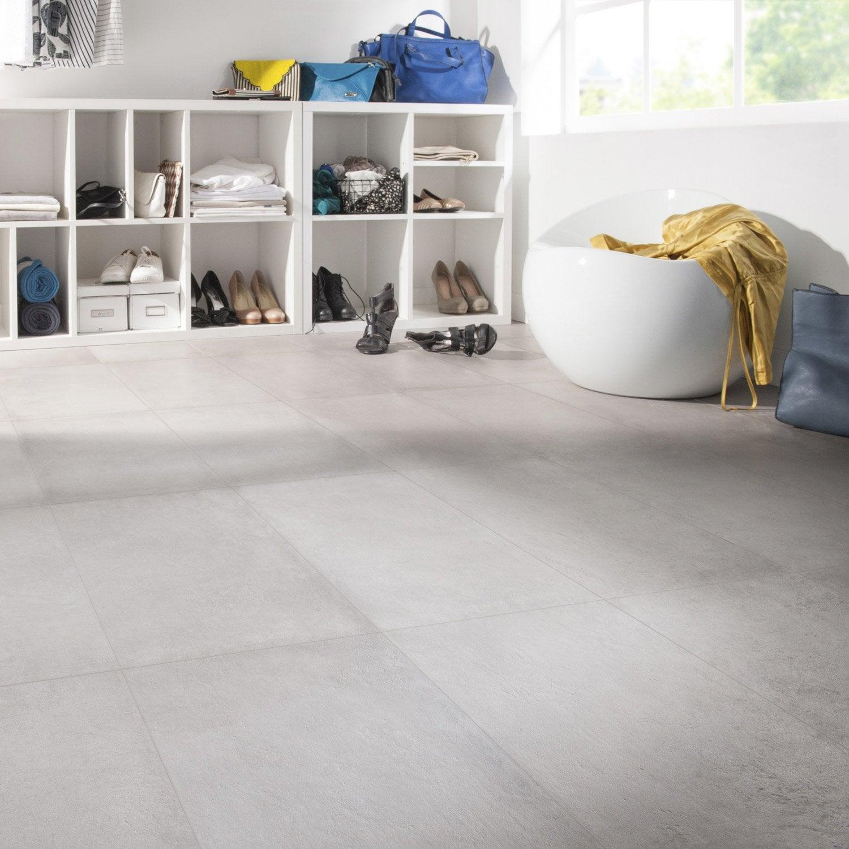 Carrelage sol et mur intenso béton gris ciment Time l.30 x L.60 cm
