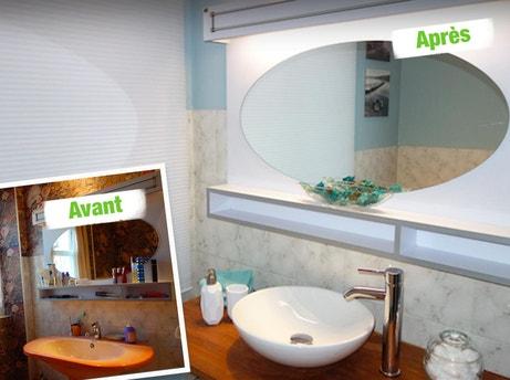 relooking de la salle de bains avec des tons clairs