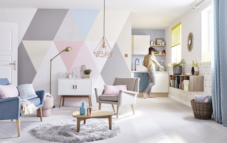 Un salon très cosy au style scandinave  Leroy Merlin