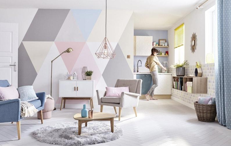 Un salon tr s cosy au style scandinave leroy merlin - Deco style scandinave ...