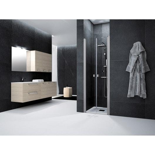 Porte de douche battante 70 cm transparent neo leroy - Porte douche battante ...