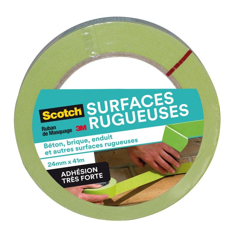 Adhésif Ruban De Masquage Vert Surfaces Rugueuses Scotch L41 M X L24 Mm
