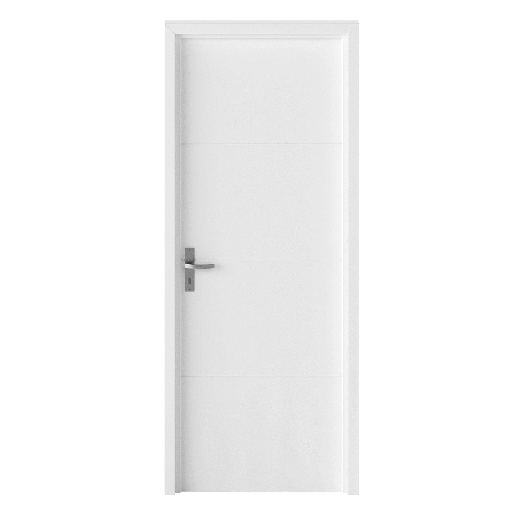 Bloc-porte blanc Lali, blanc H.204 x l.83 cm, poussant droit