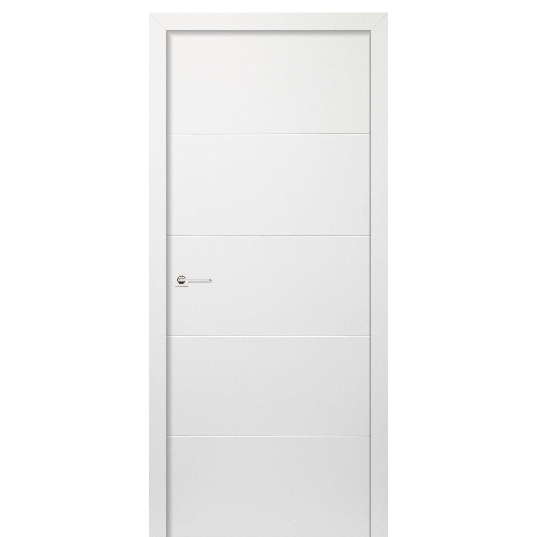 Bloc-porte blanc Albane, blanc H.204 x l.73 cm, droite