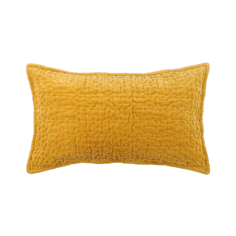 Coussin Volga, jaune moutarde l.30 x H.50 cm