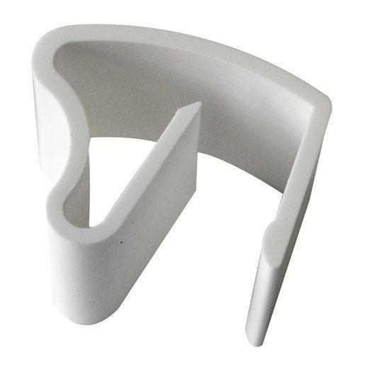 lot de 3 supports de fixation inspire blanc pour store v nitien leroy merlin. Black Bedroom Furniture Sets. Home Design Ideas
