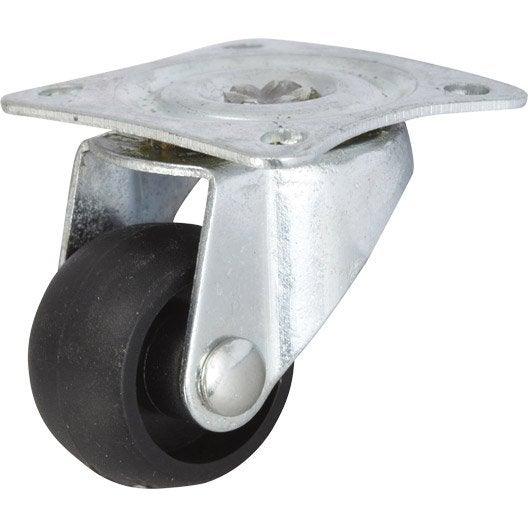 Pied de meuble roue et roulette pied de table leroy for Roulette de porte de douche leroy merlin