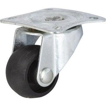 Roulette pivotante à platine, Diam.25 mm