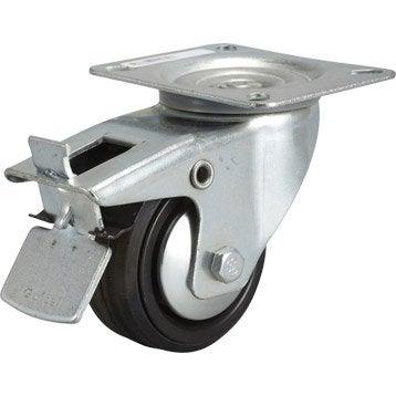 Roue et roulette pour meuble pied d 39 ameublement roue et for Roulette de porte de douche leroy merlin