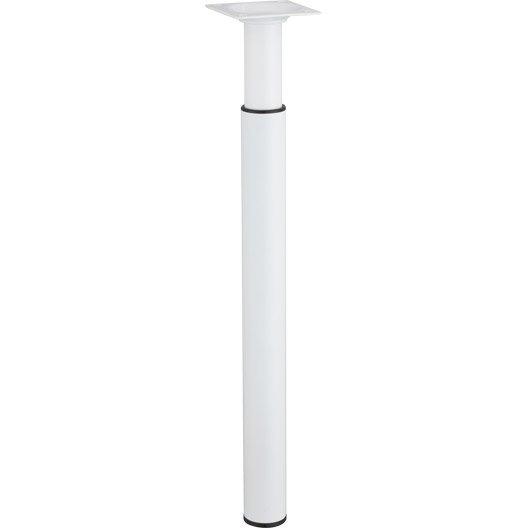 pied de meuble cylindrique r glable m tal poxy blanc de. Black Bedroom Furniture Sets. Home Design Ideas