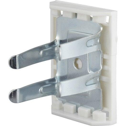 Lot de 8 clips métal à clipser, Diam.28 x H.55 mm x l.28 mm