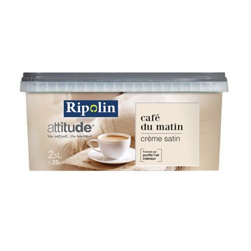 Peinture crème  RIPOLIN Attitude café du matin 2.5 l