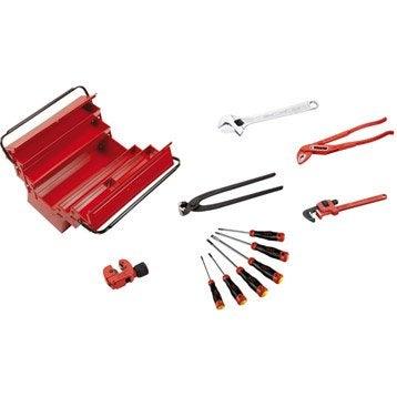 Lot caisse à outils et accessoires SAM OUTILLAGE