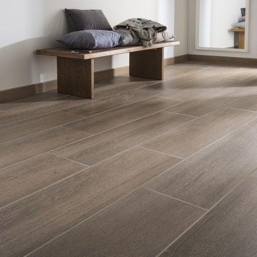 carrelage sol et mur chene fonc effet bois lodge x. Black Bedroom Furniture Sets. Home Design Ideas