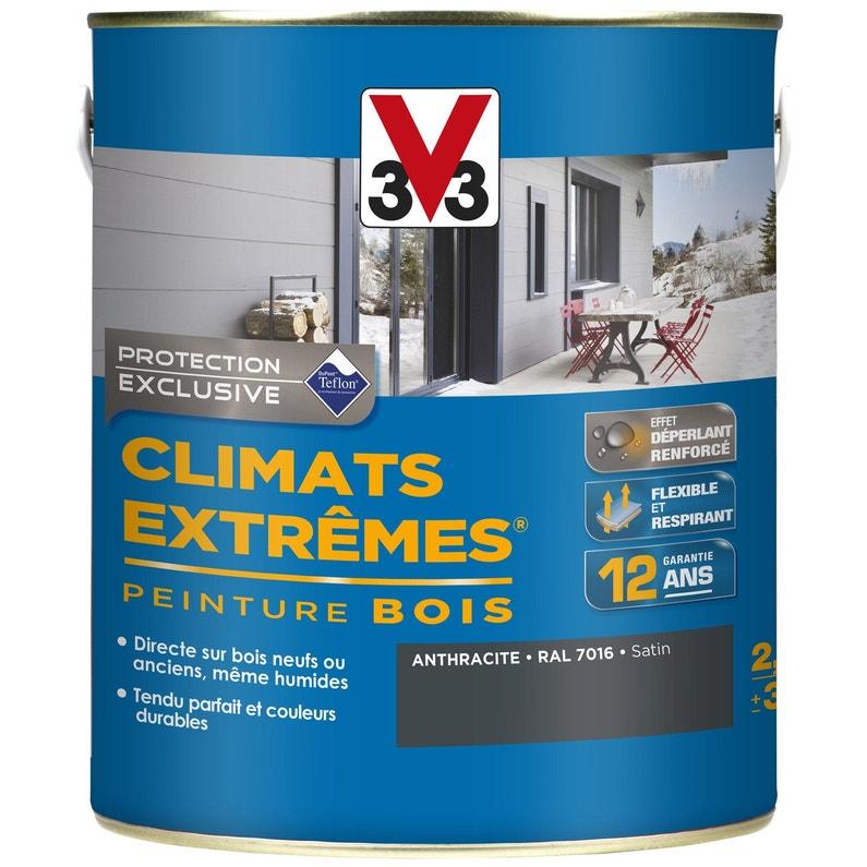 Peinture Bois Exterieur Climats Extremes V33 Gris Anthracite 2 5 L