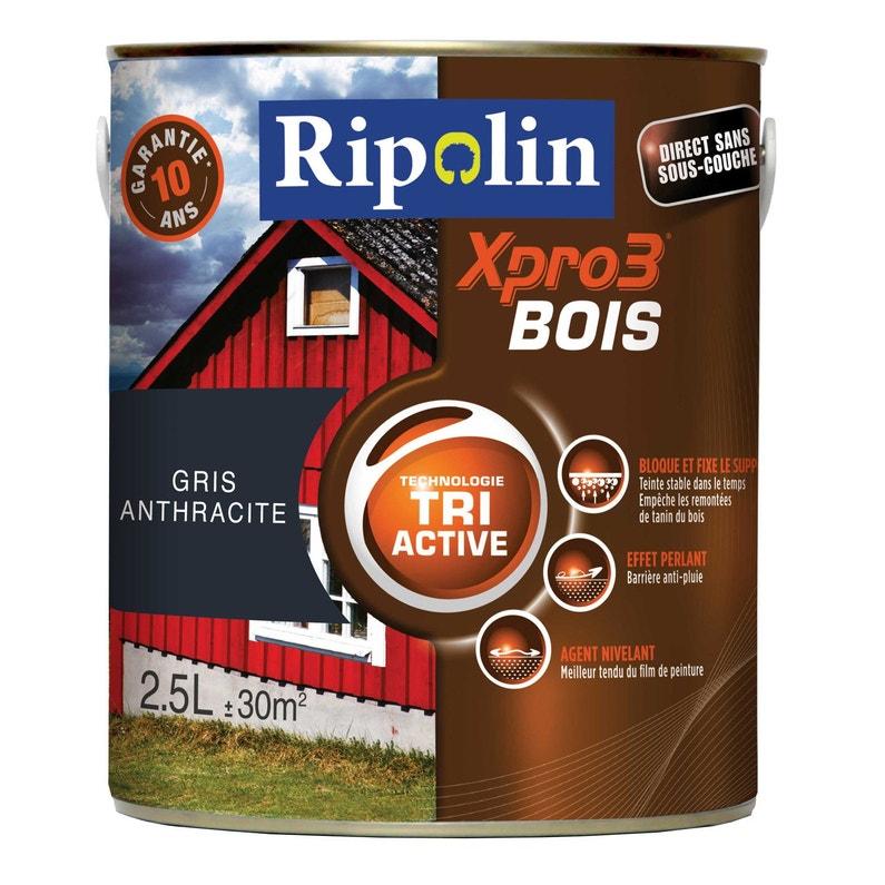 Peinture Bois Extérieur Intérieur Xpro 3 Ripolin Gris Anthracite 2 5 L