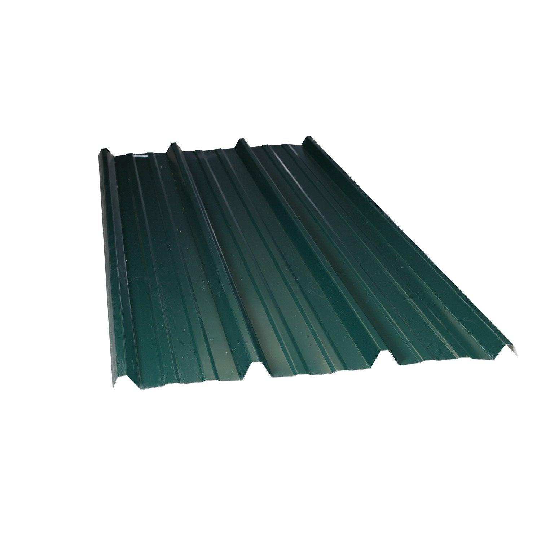 plaque r gul e nervur acier galvanis vert ondometal l x l 2 m leroy merlin. Black Bedroom Furniture Sets. Home Design Ideas