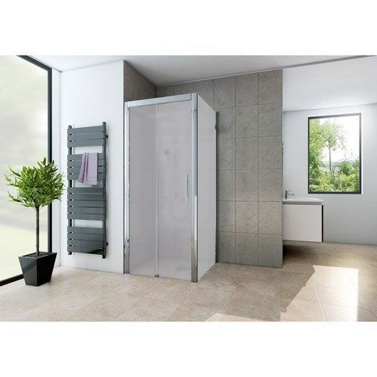 Porte de douche leroy merlin - Porte de douche coulissante 100 ...