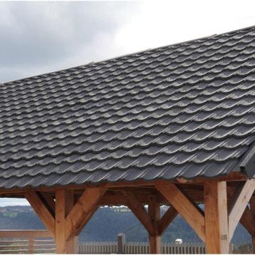 Plaque imitation tuile toiture abri de jardin bac acier toiture polycarbonate au meilleur - Bac acier anti condensation brico depot ...