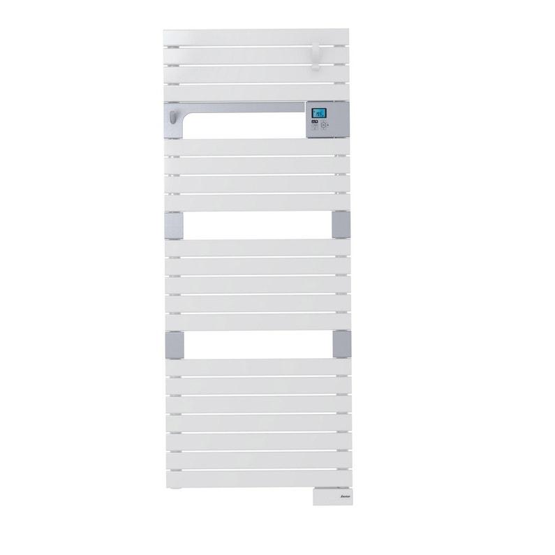 Sèche Serviettes électrique à Inertie Fluide Sauter Asama Blanc 750w