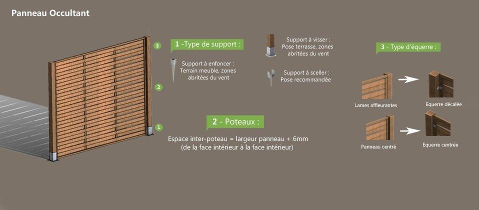 Panneau occultant bois claustra cl ture bois au meilleur prix leroy merlin - Panneau occultant bois ...