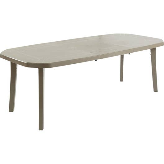 Table de jardin grosfillex miami rectangulaire taupe 10 personnes leroy merlin - Table jardin grofilex besancon ...