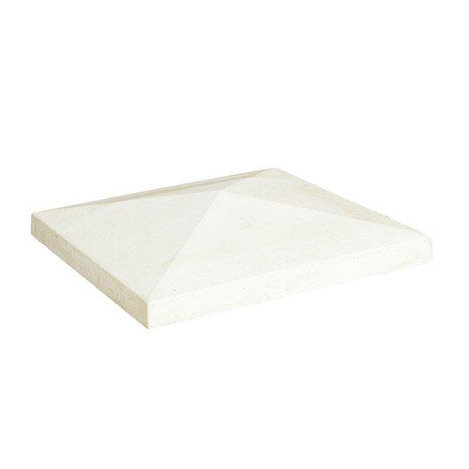 chapeau b ton moul pointu h 9 x x cm leroy merlin. Black Bedroom Furniture Sets. Home Design Ideas