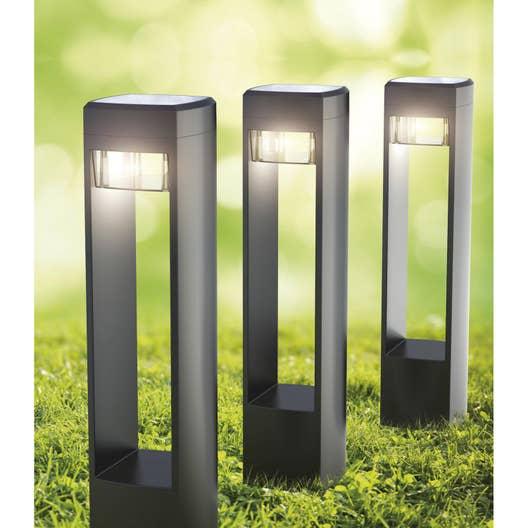 lot de 3 balises solaire so500 25 lm noir xanlite leroy merlin. Black Bedroom Furniture Sets. Home Design Ideas