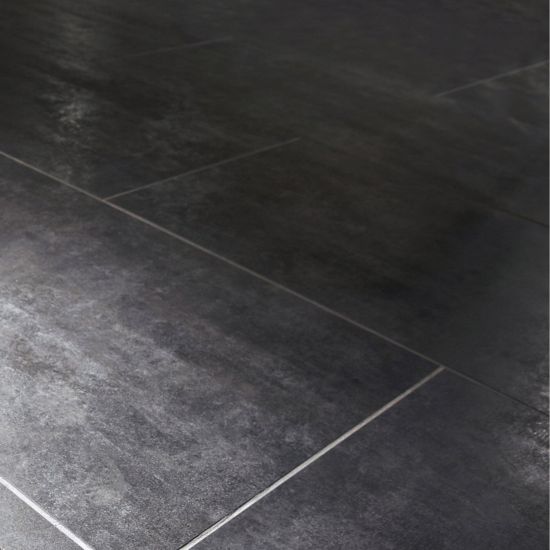 carrelage sol et mur noir effet b ton factory x cm leroy merlin. Black Bedroom Furniture Sets. Home Design Ideas