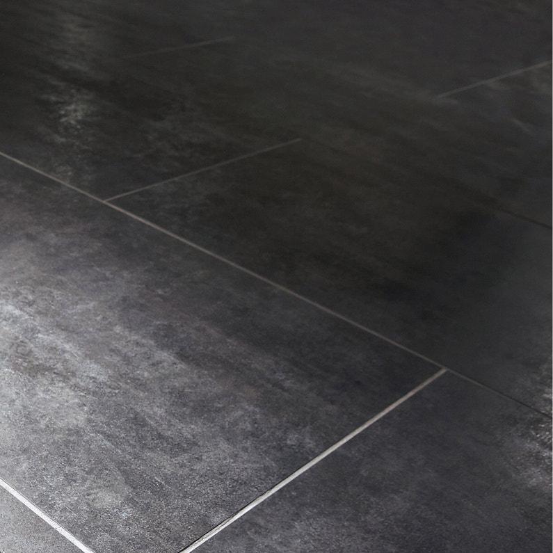 Carrelage Sol Et Mur Noir Effet Béton Factory L60 X L120 Cm