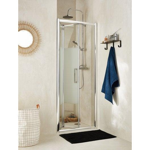 Porte de douche pliante 80 cm s rigraphi quad leroy for Porte de douche pliante