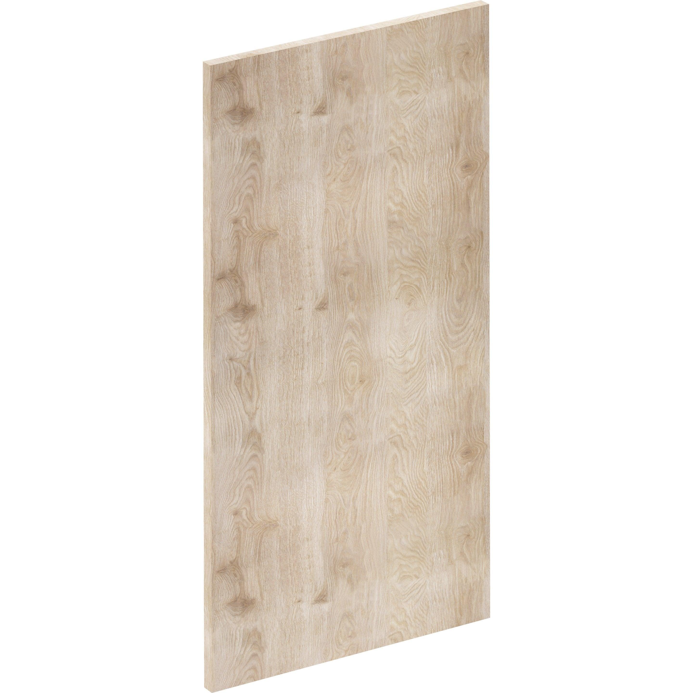 Porte de cuisine Nordik effet frêne, DELINIA ID H.76.5 x l.39.7 cm
