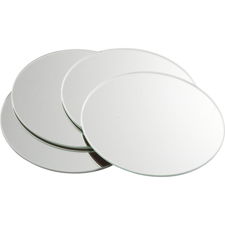 Lot De 4 Miroirs Non Lumineux Adhésifs Ronds L.15 X L.15 Cm ...
