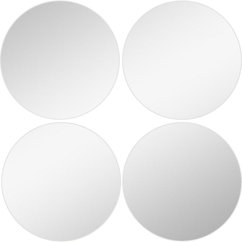Lot de 4 miroirs non lumineux adhésifs ronds l.15 x L.15 cm | Leroy ...