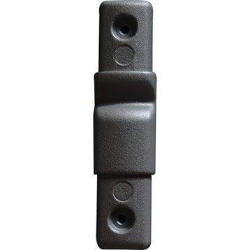 Lot de 5 liaisons de lisse TIERAL aluminium gris H.10 x l.2.5 cm