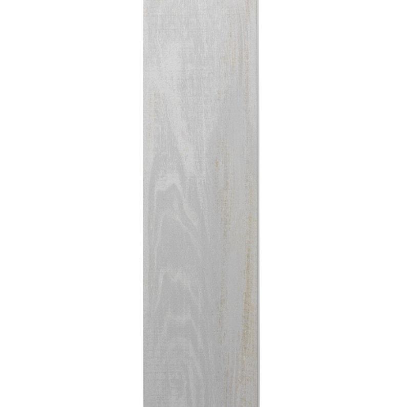Lambris Pvc Bois Datcha Blanc Grosfillex L120 X L154 Cm X Ep6 Mm